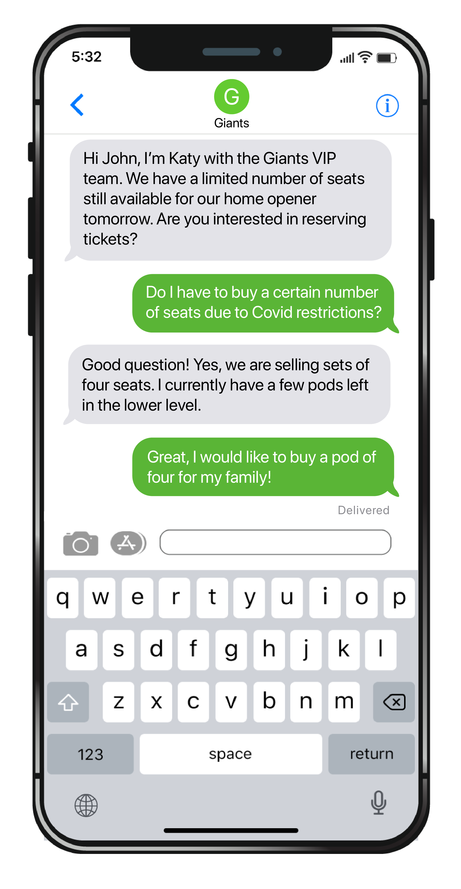 Personalized SMS Marketing for Sports Teams
